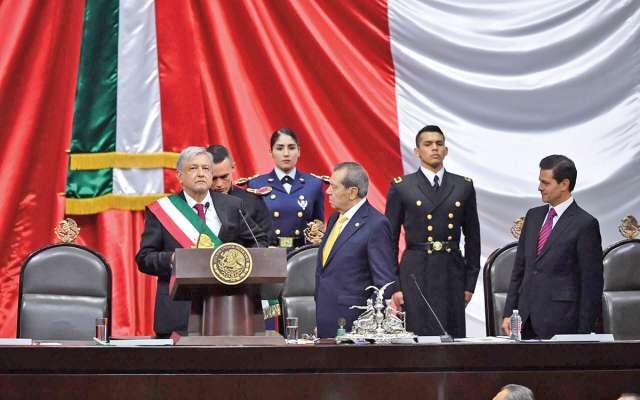 Andrés Manuel López Obrador rindió protesta como nuevo Presidente de la República para el sexenio 2018-2024. Foto: Pablo Salazar Solís / El Heraldo de México