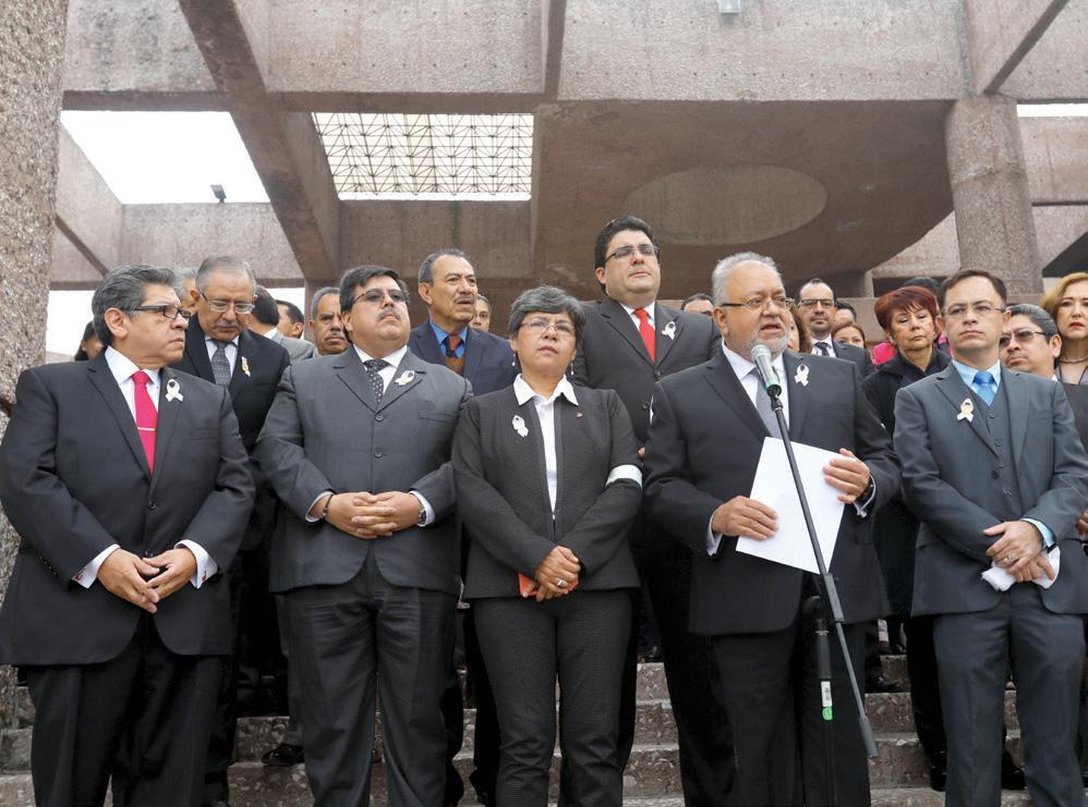 Integrantes del Poder Judicial de la Federación son quienes más han protestado por la medida anunciada por el gobierno federal. Foto: Nayeli Cruz / El Heraldo de México.