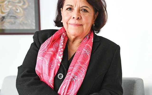 Celia Maya visitó las instalaciones de El Heraldo de México. Foto: Federico Gama / El Heraldo de México.