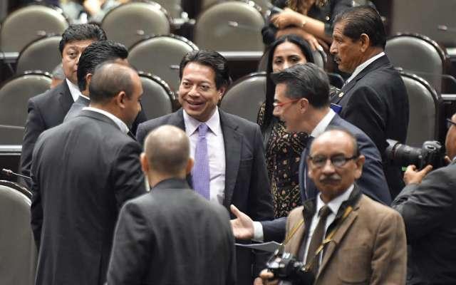 MORENA. El diputado Mario Delgado es el coordinador de la fracción parlamentaria de Morena en San Lázaro. Foto: EDGAR LÓPEZ