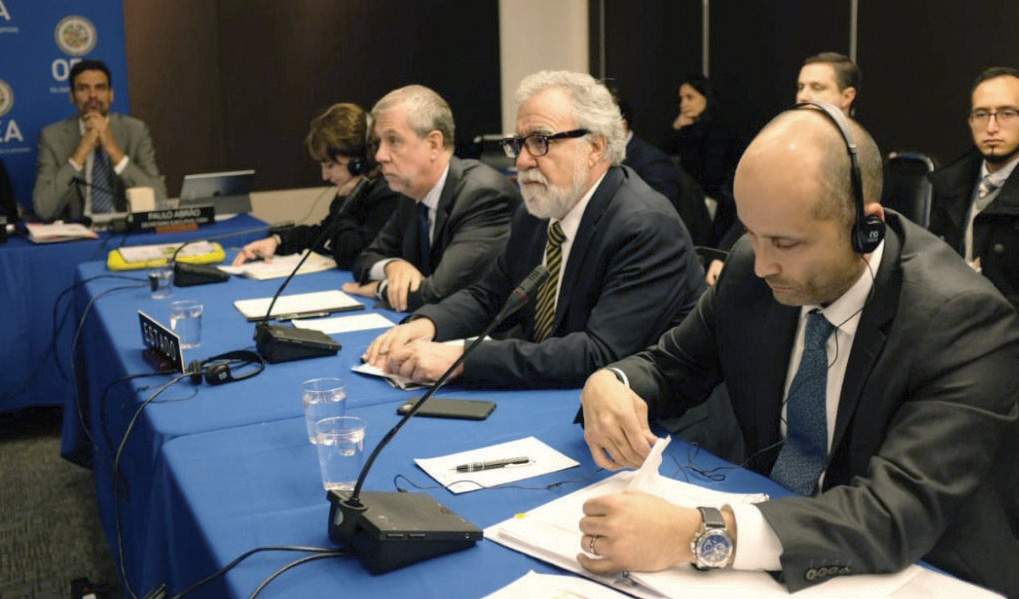 Encinas estuvo con miembros de la Comisión Interamericana de Derechos Humanos.
