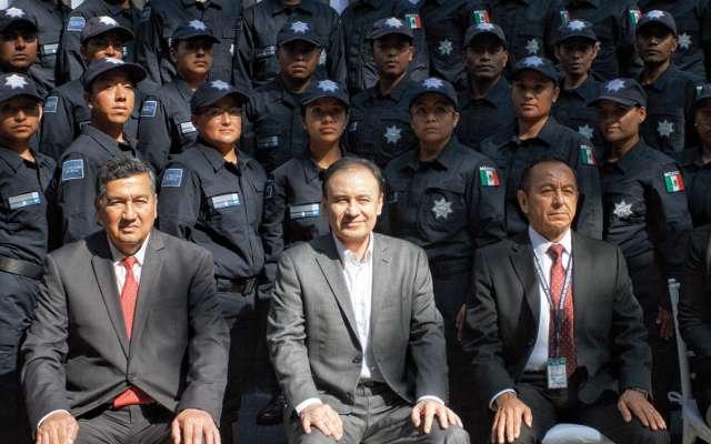 UNIDOS. El secretario Alfonso Durazo visitó las instalaciones del Servicio de Protección Federal. Foto:  CUARTOSCURO