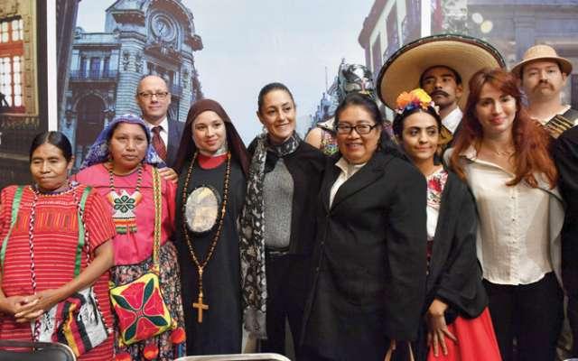 La jefa de Gobierno presentó la campaña para atraer turistas. Foto: Edgar López / El Heraldo de México.