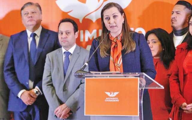 Líderes de Movimiento Ciudadano respaldaron a la gobernadora electa. Foto: Especial.