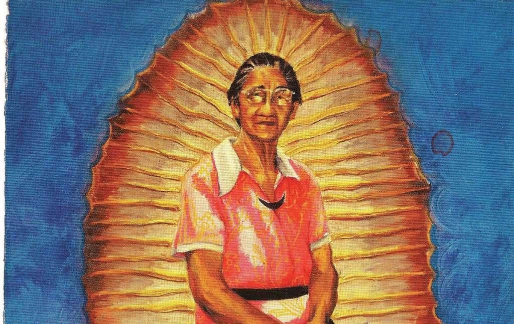 PÁNEL de la serie Virgen de Guadalupe, 1978, tríptico de Yolanda López. Foto: Especial