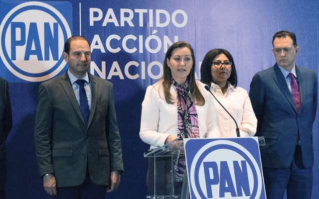 La gobernadora electa, Martha Erika Alonso Hidalgo, sostuvo que su triunfo electoral es legítimo. FOTO: MARIO JASSO / CUARTOSCURO.COM