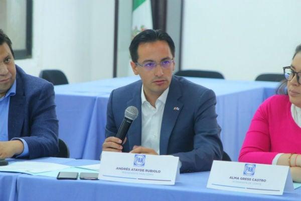 Andrés Atayde Rubiolo, presidente del PAN en la Ciudad de México, se pronunció contra la actitud de Morena