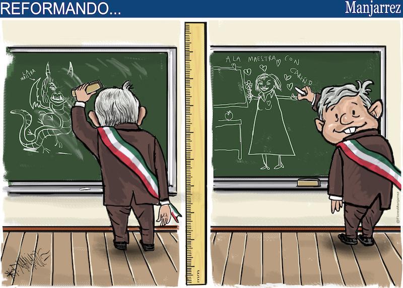 Manjarrez / caricaturista / El Heraldo de México