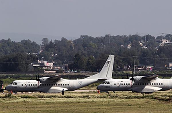 La Base Aérea Número 1 Santa Lucía reúne todas las condiciones para edificar ahí el Nuevo Aeropuerto Internacional de México (NAIM). FOTO CUARTOSCURO
