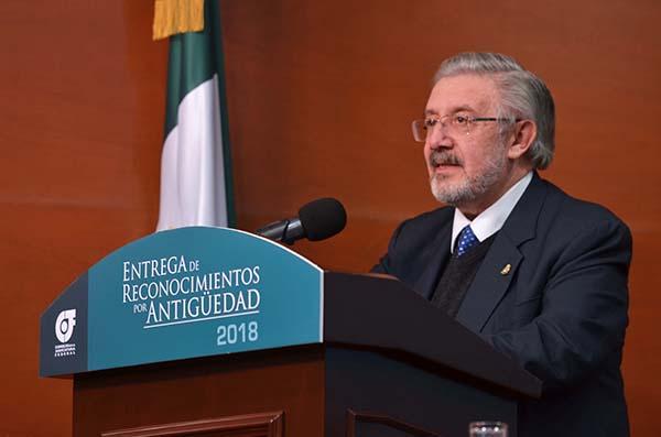 El presidente de la Suprema Corte de Justicia de la Nación, Luis María Aguilar Morales.  FOTO: NOTIMEX
