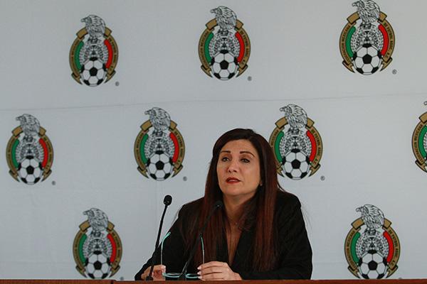 Beatriz Ramos, directora de comunicación e imagen de la Federación Mexicana de Futbol, mencionó en conferencia de prensa que Jaime Lozano será el nuevo director técnico de la Selección Nacional Sub-23. FOTO:  NOTIMEX