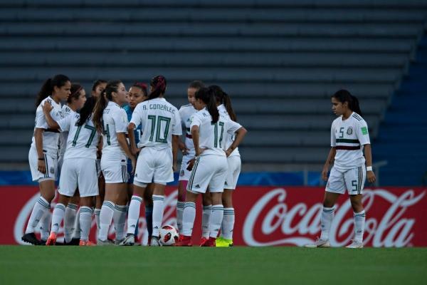 El Tri Femenil Sub 17 cayó 2 - 1 frente a su similar de España. Foto: Femexfut