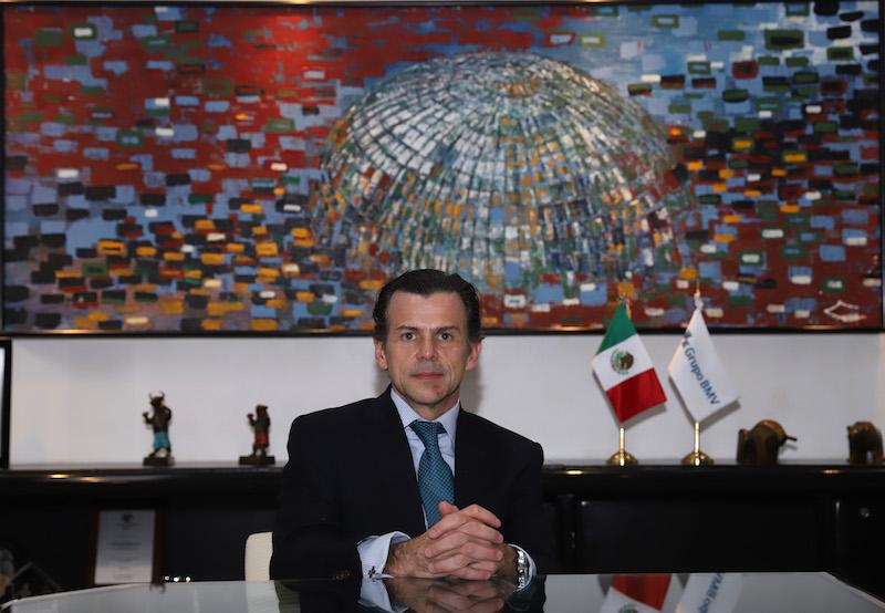 EL DIRECTOR DE LA BMV DESTACÓ LOS PRODUCTOS FINANCIEROS QUE PUEDEN AYUDAR AL GOBIERNO. Foto: Víctor Gahbler / El Heraldo de México