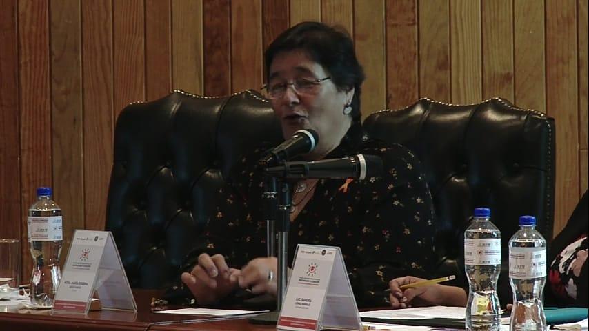María Eugenia Solís García, docente internacional en materia de Derechos Humanos y ex jueza de la Corte Interamericana