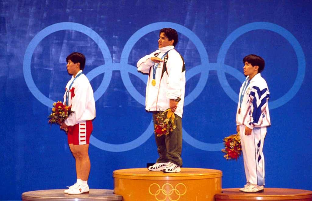 Soraya Jimenez de Mexico,(Medalla de Oro) ,durante los Juegos Olimpicos Sydney 2000,