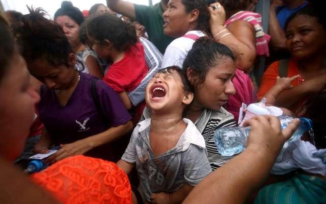 Imagen de la Caravana de Migrantes centroamericanos en un intento de llegar hasta Estados Unidos. Foto; Reuters