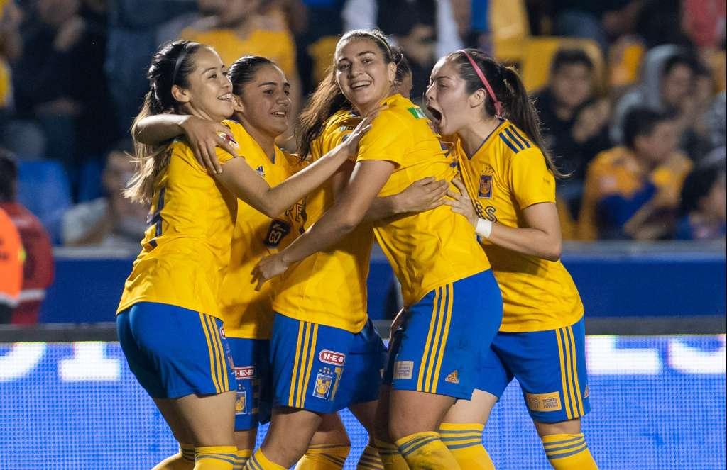 El arranque del Clausura 2019 tuvo como primera goleada la de las regias, quienes despacharon por 7-1 al Querétaro, en el choque de la Jornada 1. Foto: MEXSPORT