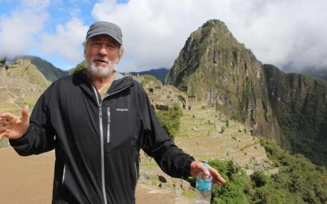Robert De Niro en Machu Picchu. Foto: AFP
