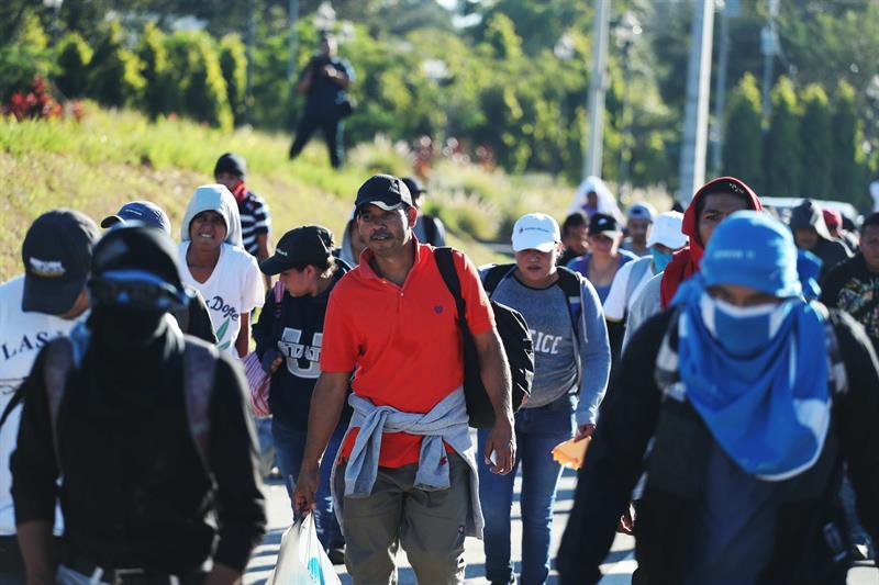 Sheinbaum agregó que tiene información que son 500 integrantes los que marchan en esta caravana migrante