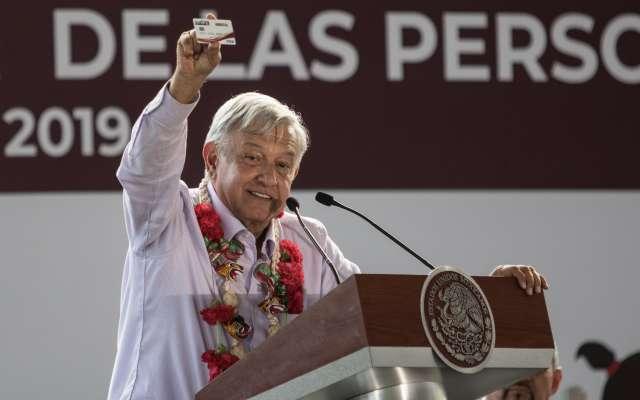 TLAPA DE COMONFORT, GUERRERO, 11ENERO2018.- Andrés Manuel López Obrador, presidente de México, encabezó el arranque del programa de