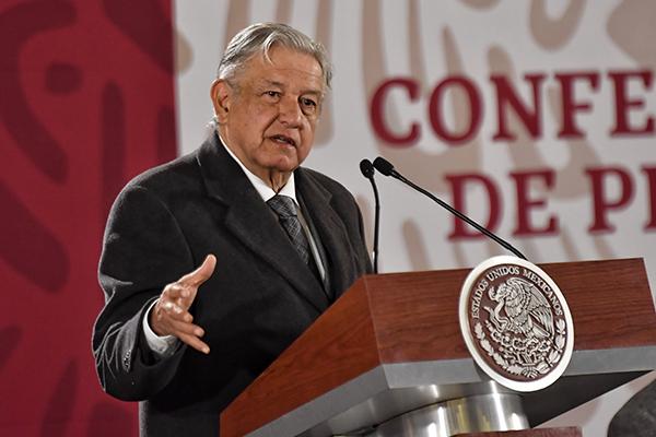 López Obrador aclaró que se realizan las acciones correspondientes para normalizar el abasto de combustible en el país. FOTO: ÉDGAR LÓPEZ