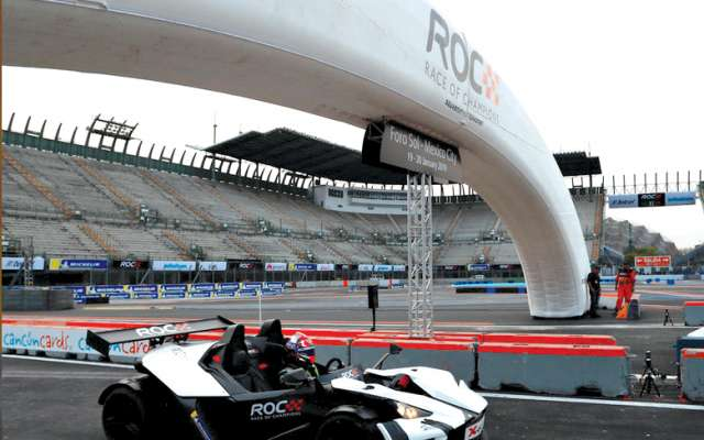 La pista de la CDMX se viste de gala para grandes pilotos. FOTO: CORTESÍA