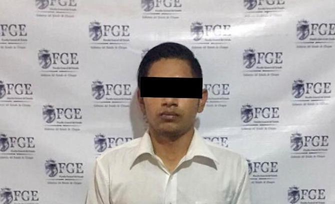 Este extranjero fue puesto a disposición del INM para  realizar la deportación controlada a El Salvador: Foto: Especial.