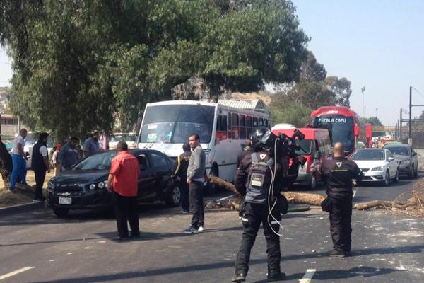 El bloqueo del viernes fue sobre Manuel Calero en dirección al Oriente. FOTO: LESLIE PÉREZ