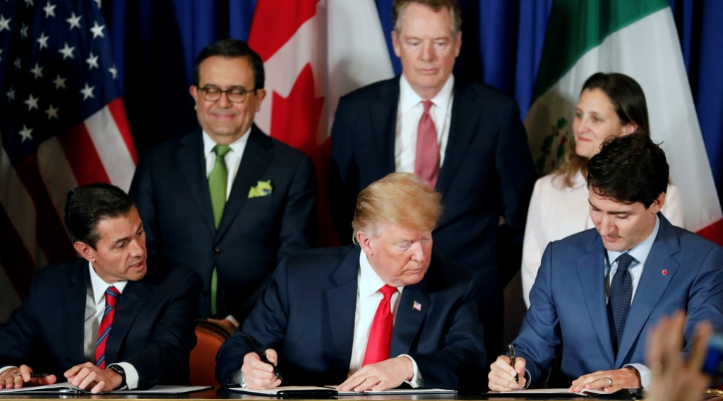 México, Estados Unidos y Canadá firmaron el T-MEC en noviembre