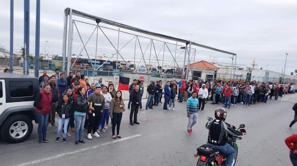 14 empresas maquiladoras en Matamoros han logrado ya solucionar el conflicto laboral. Foto: @Martinez1MX