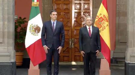 Sánchez es el primer mandatario extranjero que visita México desde la toma de posesión de López Obrador como presidente del país