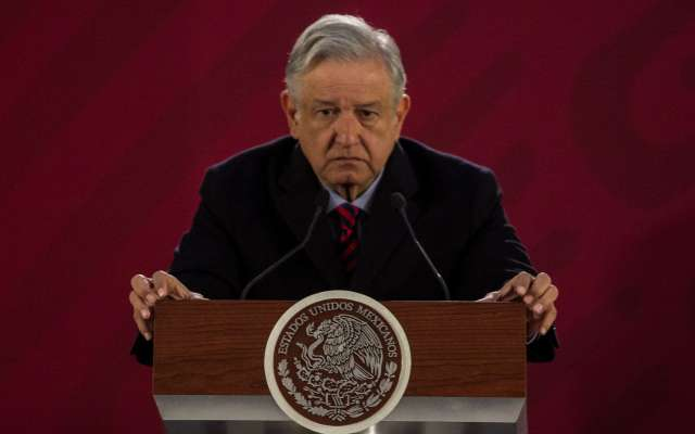 Andrés Manuel López Obrador, presidente de México, durante su conferencia de prensa mañanera para dar de los avances y estrategias en operación para evitar el robo de hidrocarburos.  FOTO: GALO CAÑAS /CUARTOSCURO.COM