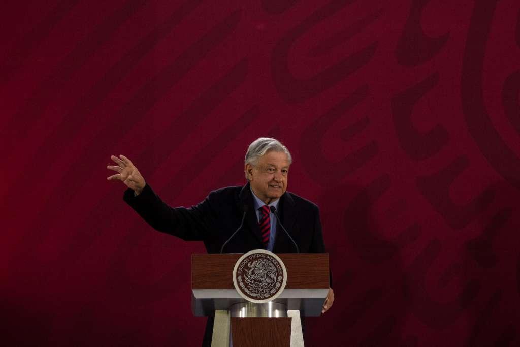 Andrés Manuel López Obrador, presidente de México, durante su conferencia de prensa. FOTO: CUARTOSCURO
