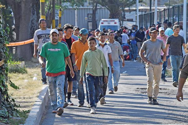 En Ciudad Deportiva fue acondicionado el albergue para 5 mil migrantes. Foto: Pablo Salazar / El Heraldo de México