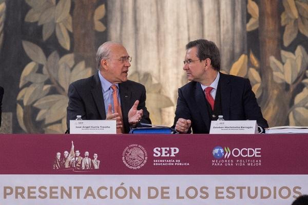 Gurría presentó en México los estudios El futuro de la Educación en México, promoviendo calidad y equidad, y Educación Superior en México, resultados y relevancia para el mercado laboral. Foto: Cuartoscuro