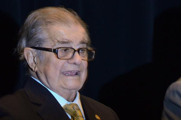 El doctor Miguel León-Portilla en un homenaje por sus 90 años de vida en la UNAM. FOTO: JOSÉ ROBERTO GUERRA /CUARTOSCURO.COM