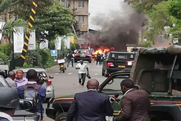 La explosión se produjo en el complejo DusitD2. Foto: AFP