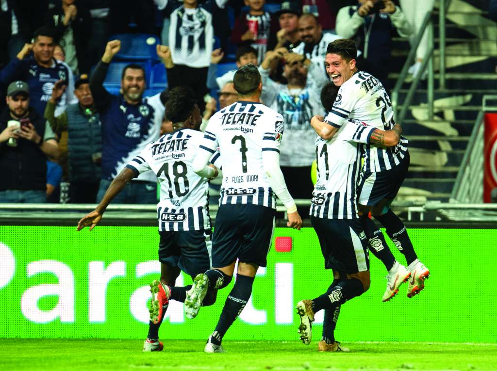 LETALES. Los jugadores del Monterrey no tuvieron piedad de los hidalguenses. Foto: MEXSPORT