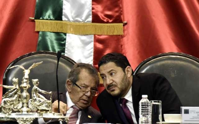 Porfirio Muñoz Ledo y Martí Batres Guadarrama, presidentes de la Mesa Directiva de la Cámara de Diputados y del Senado, respectivamente FOTO: Cuartoscuro