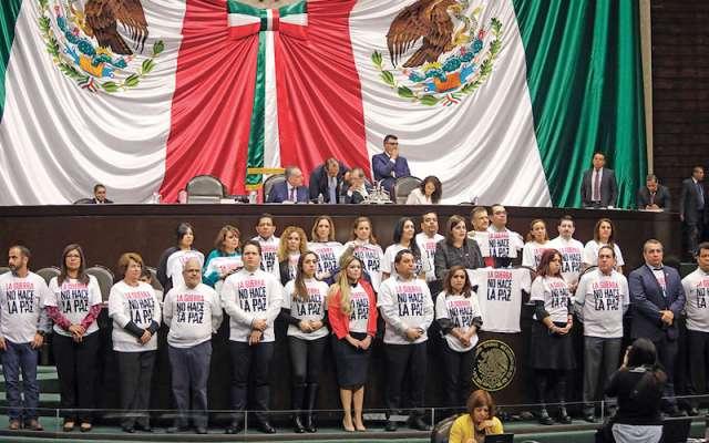 DIPUTADOS. De Movimiento Ciudadano reclamaron que se busque militarizar la seguridad. Foto: Nayeli Cruz / El Heraldo de México
