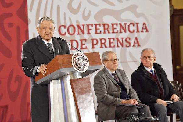 El anuncio lo dio durante su conferencia de prensa mañanera en Palacio Nacional. Foto:; Edgar López / EL Heraldo de México
