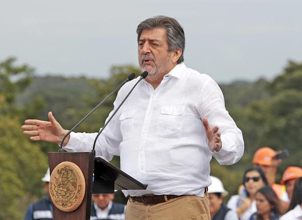 La obra ferroviaria, a cargo de Jiménez Pons, busca activar la economía. Foto: Notimex