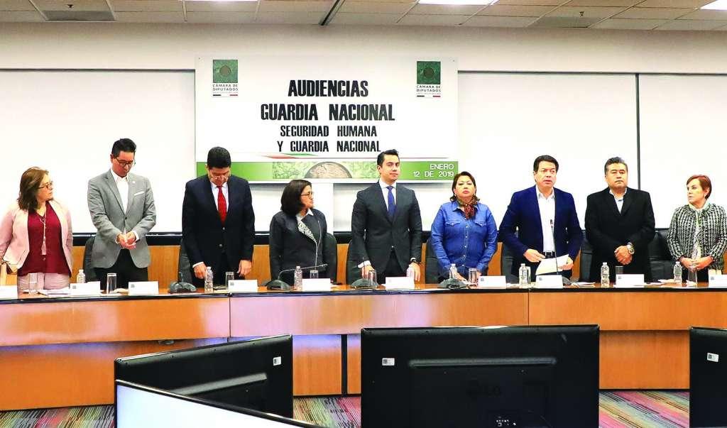 Concluyeron las audiencias sobre la Guardia Nacional en la Camara de Diputados. FOTO: CUARTOSCURO.COM