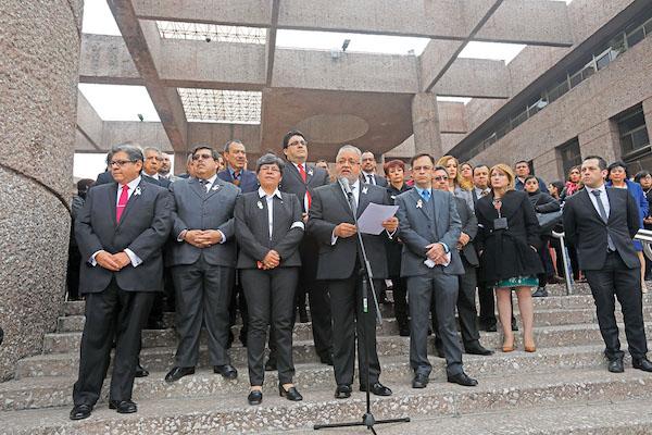 DESACUERDO. El Poder Judicial también ha protestado contra las medidas de austeridad.  Foto: Nayeli Cruz / El Heraldo de México.