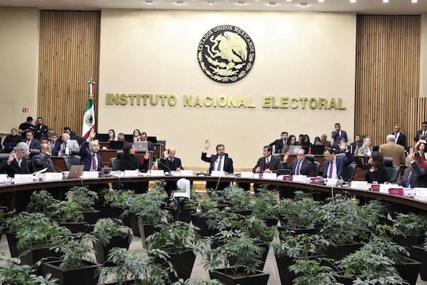 Se realizó una sesión extraordinaria en el Instituto Nacional Electoral.  FOTO: INE /CUARTOSCURO.COM