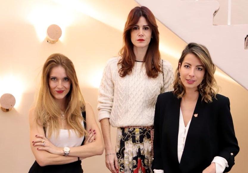 Ale Garza, Galia Katz y Paola Reyner. Foto: Cortesía
