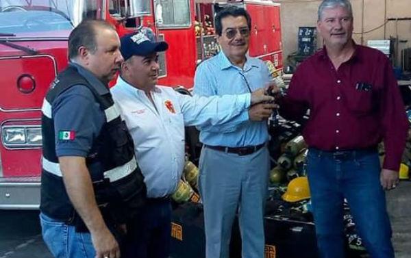 El pasado 22 de diciembre fue el último evento al que acudió en su carácter como presidente municipal, donde entregó apoyos a los bomberos.