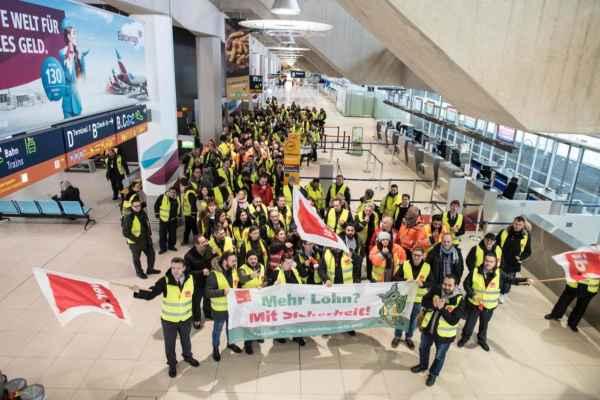 Los 23 mil agentes de seguridad piden que su salario se incremente a 20 euros la hora. Foto: Especial
