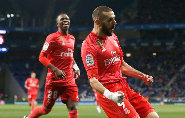 El francés Karim Benzema se lució en el RCDE Stadium Foto: Real Madrid