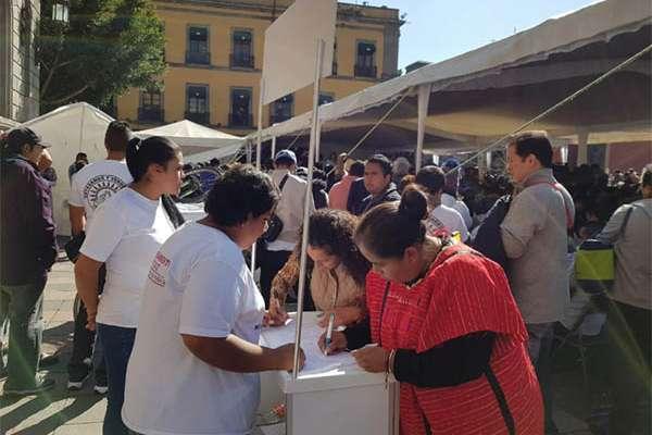 La líder de comerciantes dijo que es urgente que el comercio popular deje de ser un botín político y económico.  FOTO: LIZETH GÓMEZ DE ANDA